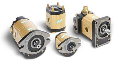 Pompe e motori a ingranaggi con corpo in alluminio - whisper